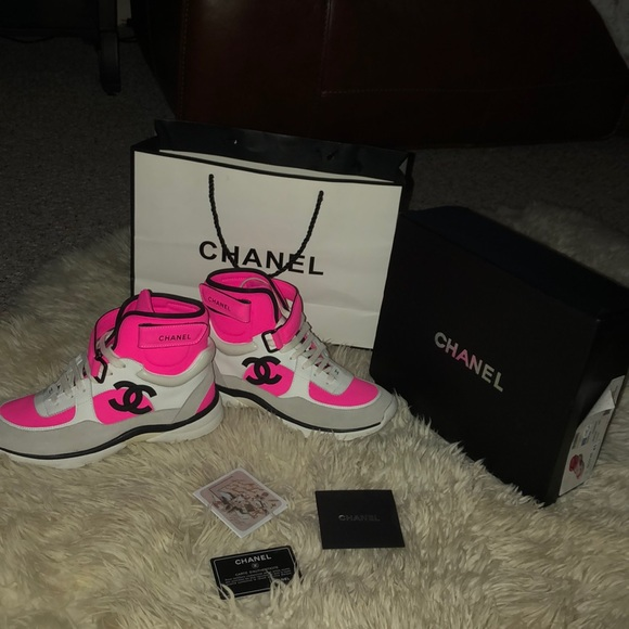 Pink Neon Chanel Sneakers | Poshmark
